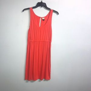 J Crew Orange Tee Shirt Dress. Elastic waist  SZ S